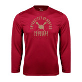 Syntrel Performance Cardinal Longsleeve Shirt-Arched University of Denver Lacrosse