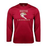 Syntrel Performance Cardinal Longsleeve Shirt-Denver Lacrosse Helmet