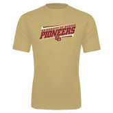 Syntrel Performance Vegas Gold Tee-University of Denver Pioneers Slanted w/ Logo