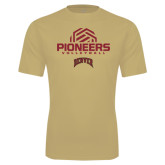 Syntrel Performance Vegas Gold Tee-Pioneers Volleyball Geometric Half Ball