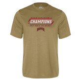 Performance Vegas Gold Tee-2017 NCAA Division I Mens Hockey Champions