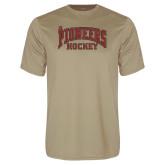Performance Vegas Gold Tee-JR Pioneers Hockey