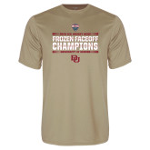 Performance Vegas Gold Tee-2018 NCHC Ice Hockey Champions