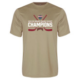 Performance Vegas Gold Tee-NCHC Ice Hockey Champions