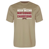 Performance Vegas Gold Tee-2018 NCAA Skiing National Champions
