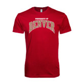 Next Level SoftStyle Cardinal T Shirt-Arched University of Denver