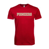 Next Level SoftStyle Cardinal T Shirt-Pioneers