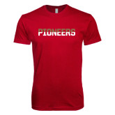Next Level SoftStyle Cardinal T Shirt-Pioneers Two Tone