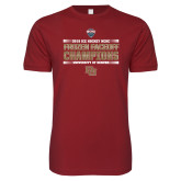Next Level SoftStyle Cardinal T Shirt-2018 NCHC Ice Hockey Champions