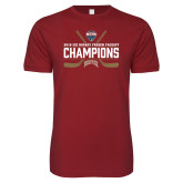 Next Level SoftStyle Cardinal T Shirt-NCHC Ice Hockey Champions