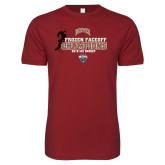 Next Level SoftStyle Cardinal T Shirt-NCHC 2018 Ice Hockey Champions