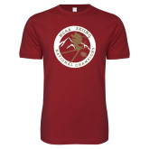 Next Level SoftStyle Cardinal T Shirt-2018 NCAA Skiing National Champions