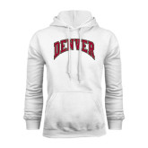 White Fleece Hood-Arched Denver