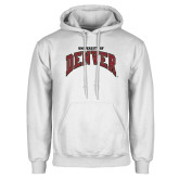 White Fleece Hoodie-University of Denver