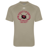 Under Armour Vegas Gold Tech Tee-Arched University of Denver Pioneers Hockey w/Sticks