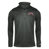 Russell Charcoal Heather 1/4 Zip-Primary Mark