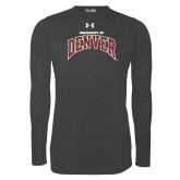 Under Armour Carbon Heather Long Sleeve Tech Tee-University of Denver
