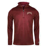 Russell Cardinal Heather 1/4 Zip-Primary Mark