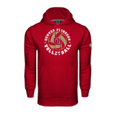 Under Armour Cardinal Performance Sweats Team Hoodie-Volleyball Stars Design