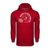 Under Armour Cardinal Performance Sweats Team Hoodie-Denver Gymnastics Circle Design