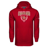Under Armour Cardinal Performance Sweats Team Hood-NCAA Division I Lacrosse Champs