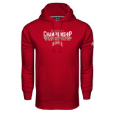 Under Armour Cardinal Performance Sweats Team Hoodie-Mens Lacrosse Champions