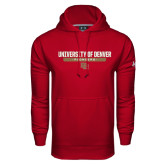 Under Armour Cardinal Performance Sweats Team Hoodie-University of Denver Pioneers Bar Stacked