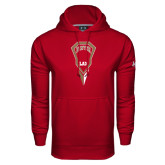 Under Armour Cardinal Performance Sweats Team Hood-Denver LAX Geometric Stick
