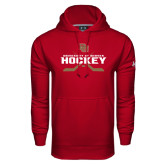 Under Armour Cardinal Performance Sweats Team Hood-University of Denver Hockey Crossed Sticks