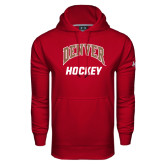 Under Armour Cardinal Performance Sweats Team Hoodie-Arched Denver Hockey