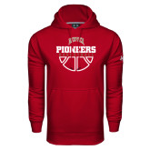 Under Armour Cardinal Performance Sweats Team Hood-Pioneers Basketball Half Ball