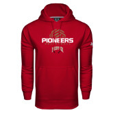 Under Armour Cardinal Performance Sweats Team Hood-Pioneers Volleyball Geometric Half Ball