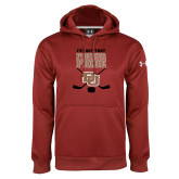 Under Armour Cardinal Performance Sweats Team Hoodie-Pioneer Pride DU Hockey
