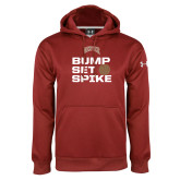 Under Armour Cardinal Performance Sweats Team Hoodie-Bump Set Spike