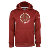 Under Armour Cardinal Performance Sweats Team Hoodie-DU Volleyball