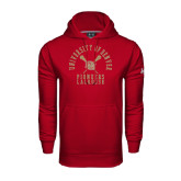Under Armour Cardinal Performance Sweats Team Hood-Arched University of Denver Lacrosse