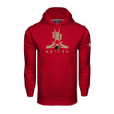 Under Armour Cardinal Performance Sweats Team Hood-DU Hockey w/Crossed Sticks