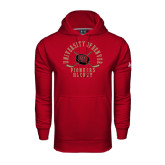 Under Armour Cardinal Performance Sweats Team Hood-Arched University of Denver Pioneers Hockey w/Sticks