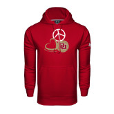 Under Armour Cardinal Performance Sweats Team Hoodie-Peace, Love, and Volleyball