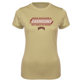 Ladies Syntrel Performance Vegas Gold Tee-2017 NCAA Division I Mens Hockey Champions