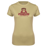 Ladies Syntrel Performance Vegas Gold Tee-Soccer