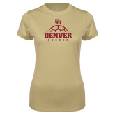 Ladies Syntrel Performance Vegas Gold Tee-Denver Soccer