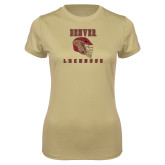 Ladies Syntrel Performance Vegas Gold Tee-Denver Lacrosse