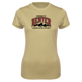 Ladies Syntrel Performance Vegas Gold Tee-Lacrosse Capital