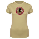 Ladies Syntrel Performance Vegas Gold Tee-DU Skiing