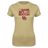 Ladies Syntrel Performance Vegas Gold Tee-Game Set Match
