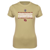 Ladies Syntrel Performance Vegas Gold Tee-2018 NCHC Ice Hockey Champions