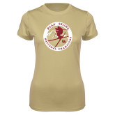 Ladies Syntrel Performance Vegas Gold Tee-2018 NCAA Skiing National Champions