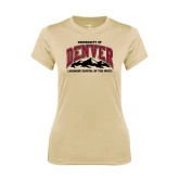 Ladies Syntrel Performance Vegas Gold Tee-Lacrosse Capital of the West