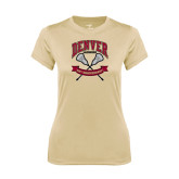 Ladies Syntrel Performance Vegas Gold Tee-Lacrosse 50th Anniversary